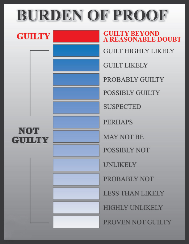 reasonable doubt charts just plead the 5th